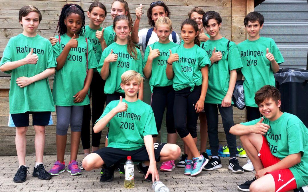 Unsere Schülerstaffel beim Mehrkampfmeeting 2018